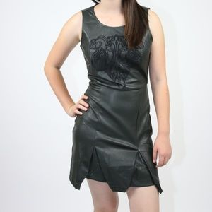 Sugarlips Vegan Leather Sleeveless Mini Dress (XS)